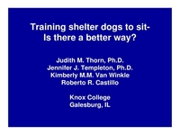 Current Scientific Research in Dog Behavior, Parts I and II