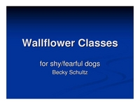Wallflower Classes for the Shy/Fearful Dog