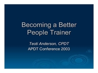 Becoming a Better Person Trainer