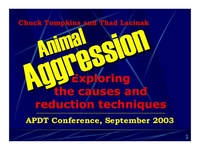Animal Aggression:  Exploring the Cause and Reduction Techniques