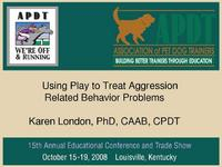 Using Play to Treat Aggression Related Behavior Problems
