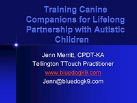 Training Canine Companions for Lifelong Partnership with Autistic Children