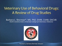 Veterinary Use of Behavioral Drugs: A Review of Drug Studies