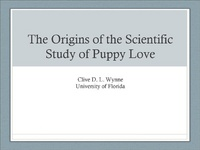 The Origins of the Scientific Study of Puppy Love: A Literature Review and History of the Field