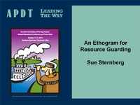 An Ethogram for Resource Guarding