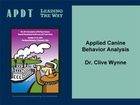Applied Canine Behavior Analysis