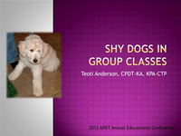 Shy Dogs in Group Classes