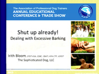 Shut Up Already! Dealing with Excessive Barking