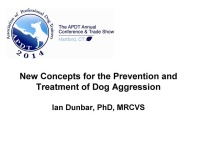 New Concepts for the Prevention and Treatment of Dog Aggression