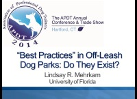 """The APDT Foundation Presents: Do """"Best Practices"""" in Off-Leash Dog Parks Exist?"""
