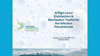 A High Level Disinfection & Sterilization Toolkit for the Infection Preventionist