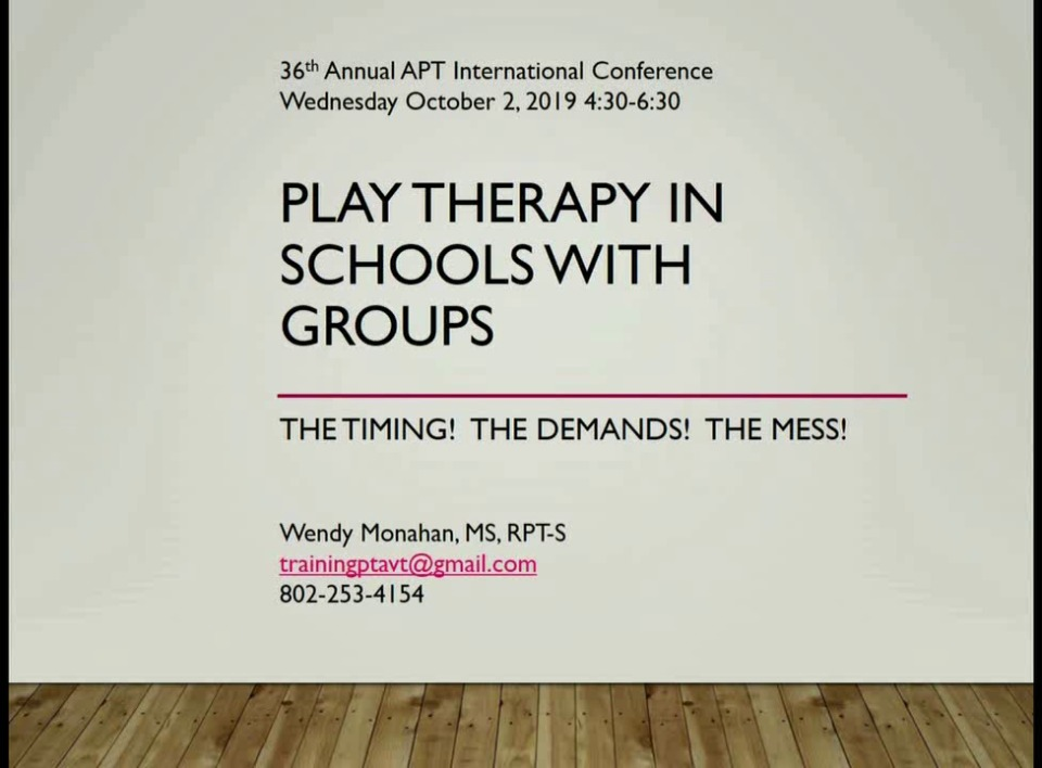 Play Therapy in Schools with Groups: The Timing! The Demands! The Mess!