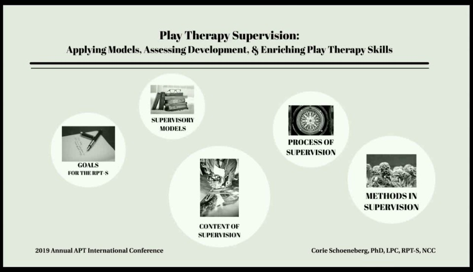 Supervisor Training - Play Therapy Supervision: Applying Models, Assessing Development, and Enriching Play Therapy Skills