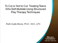 To Cut or Not to Cut: Treating Teens who Self-Mutilate Using Structured Play Therapy Techniques