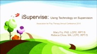 iSupervise - Using Technology in Supervision