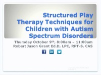 Structured Play Therapy Techniques for Children with Autism Spectrum Disorders