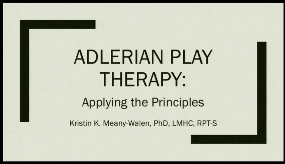 adlerian treatment plan
