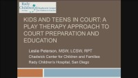 Kids and Teens in Court: A Play Therapy Approach to Court Preparation and Education