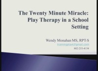 The Twenty Minute Miracle: Play Therapy in a School Setting