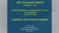Answers to Your Aortic Valve Stenosis Questions: An Interactive Live Webinar