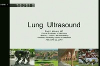 POCUS Extracardiac Imaging Workshop - Lung Ultrasound