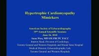 Cardiomyopathies: Restrictive and Hypertrophic - Question and Answer