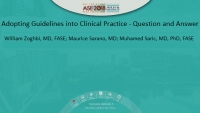 Adopting Guidelines into Clinical Practice - Question and Answer