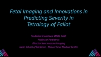 Path-Echo Correlations I: Tetralogy of Fallot - Fetal Imaging and Innovations to Predict Post-natal Severity