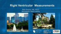 The Right Stuff - Right Ventricular Measurements