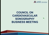 Working 9 to 5: Sonographer Career Development - Council on Cardiovascular Sonography Business Meeting