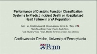 Novel Concepts in Diastology - Performance of Diastolic Function Classification Systems to Predict Incident Death or Hospitalization for Heart Failure in a VA Population