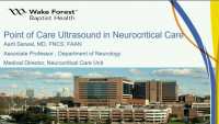 New Frontiers of POCUS - Point of Care Ultrasound in Neurocritical Care