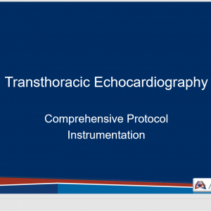Comprehensive TTE Instrumentation Teaching Slides
