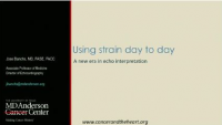 Adapting Novel Technologies and Fields to Clinical Practice - Using Strain Day-To-Day