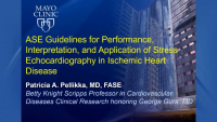 ASE Guidelines for Performance, Interpretation, and Application of Stress Echocardiography in Ischemic Heart Disease