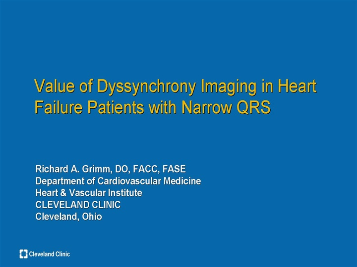 Current Role of Echo in CRT Value of Dysynchrony Imaging in