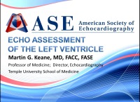 Echo Assessment of the Left Ventricle
