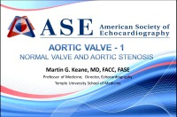 Aortic Valve 1 - Normal Valve and Aortic Stenosis
