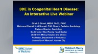 Three-dimensional Echocardiography in Congenital Heart Disease:  An Interactive Live Webinar