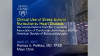 The Clinical Use of Stress Echocardiography in Non-Ischemic Heart Disease Live Webinar