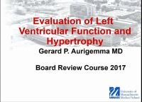 Evaluation of Left Ventricular Function and Hypertrophy