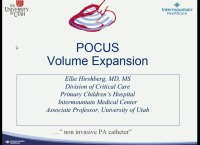 POCUS Basics: Ultrasound for the Critically Ill Patient - Volume Expansion