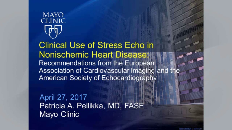 The Clinical Use of Stress Echocardiography in Non-Ischemic
