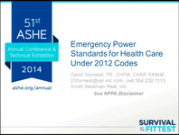 Emergency Power Standards for Health Care Under the 2012 Codes