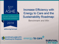 Increase Efficiency with the Energy to Care Program and Sustainability Roadmap