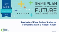 Analysis of Flow Path of Airborne Contaminants in a Patient Room