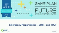 Emergency Preparedness – CMS – and YOU!