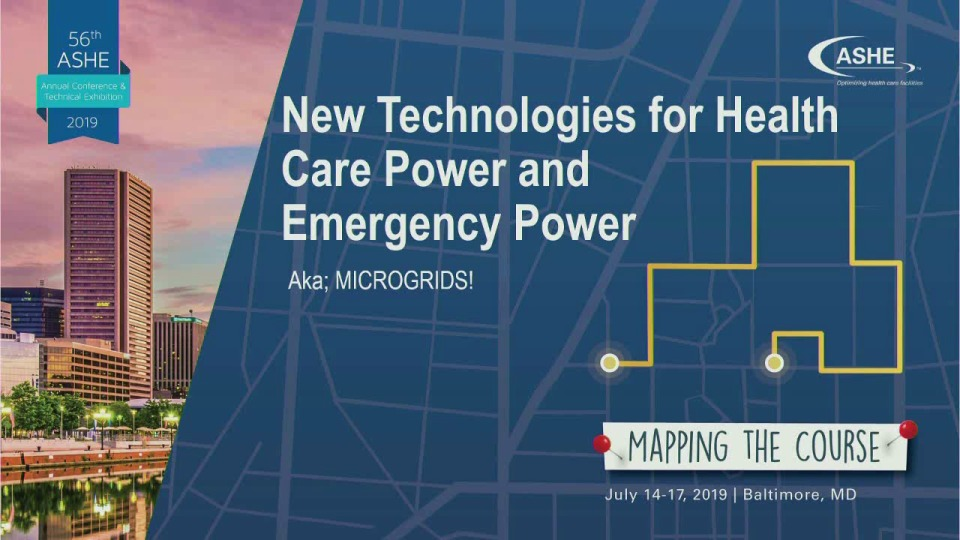 New Technologies for Health Care Power and Emergency Power