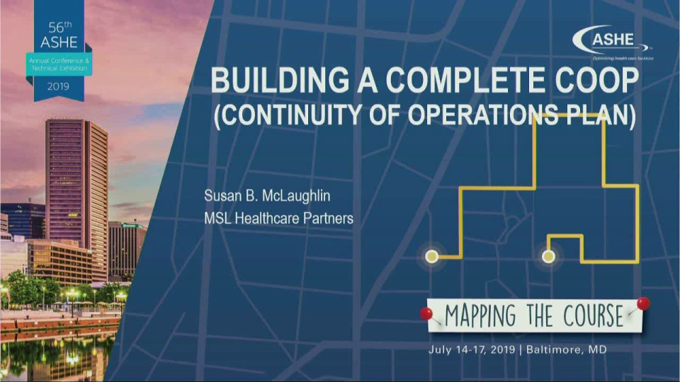 Building a Complete COOP (Continuity of Operations Plan)