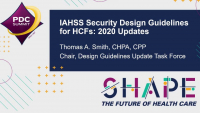 Security Design Guidelines for HCFs: 2020 Updates
